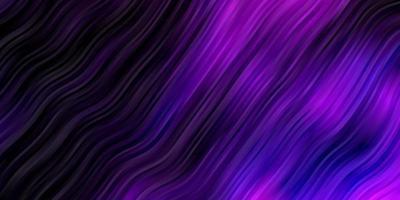mörkrosa vektorbakgrund med böjda linjer.