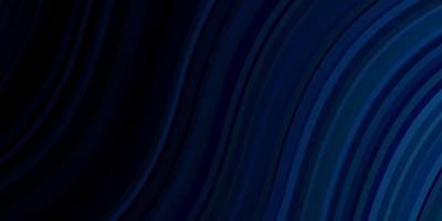 dunkelblaue Vektortextur mit trockenen Linien.