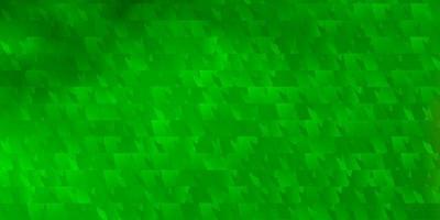 hellgrüne Vektorschablone mit Kristallen, Dreiecken. vektor