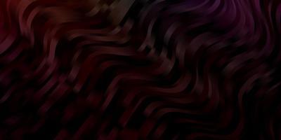 dunkle mehrfarbige Vektorschablone mit gekrümmten Linien.