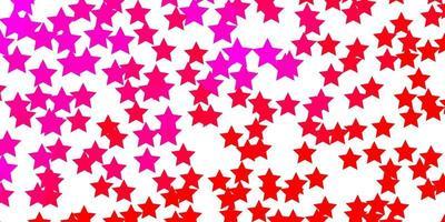 hellrosa Vektorlayout mit hellen Sternen.