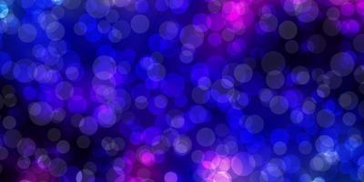 dunkelrosa, blaue Vektorbeschaffenheit mit Scheiben.