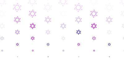 ljuslila, rosa vektorstruktur med sjukdomssymboler