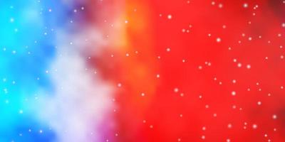 leichtes mehrfarbiges Vektorlayout mit hellen Sternen.