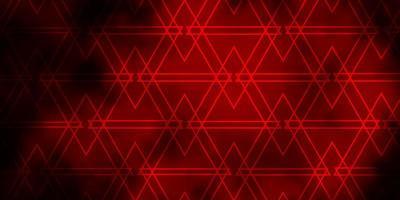 mörk röd vektor layout med linjer, trianglar.