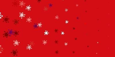 hellrosa, rote Vektorschablone mit Grippezeichen.
