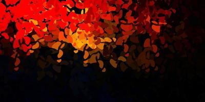 dunkelorange Vektormuster mit abstrakten Formen.
