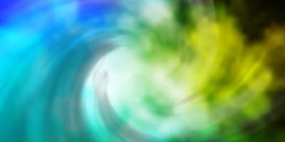 ljusblå, grön vektorbakgrund med cumulus. vektor