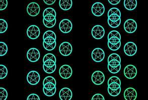 dunkelgrüner Vektorhintergrund mit okkulten Symbolen.