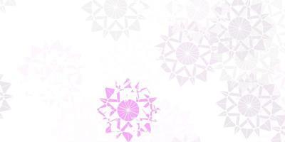 hellviolette Vektorbeschaffenheit mit hellen Schneeflocken.