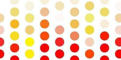 ljus orange vektor bakgrund med prickar