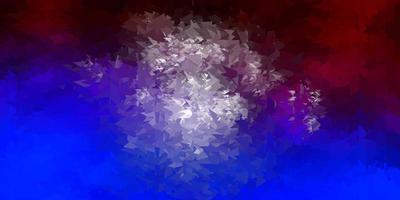 dunkelblaue, rote Vektor-Poly-Dreieck-Textur.