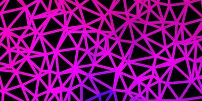 mörkrosa vektor triangel mosaik bakgrund.