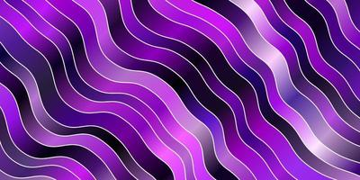 hellviolettes Vektormuster mit Linien.