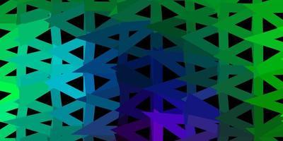 mörk flerfärgad vektor abstrakt triangel bakgrund.