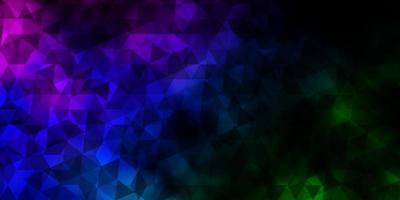 dunkles mehrfarbiges Vektormuster mit polygonalem Stil.
