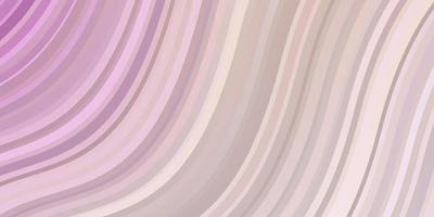 ljusrosa, gul vektorbakgrund med böjda linjer. vektor