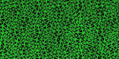 mörkgrön vektor gradient polygon design.