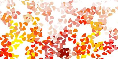 ljus orange vektor bakgrund med kaotiska former.