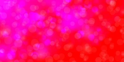 ljusrosa vektor mönster med cirklar.