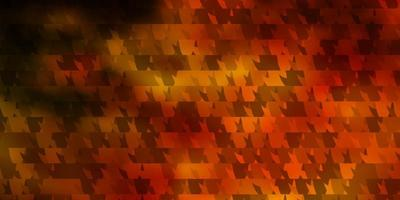 mörk orange vektor bakgrund med linjer, trianglar.