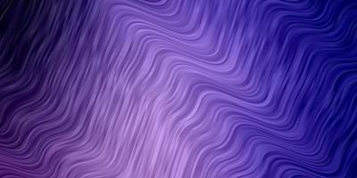 hellvioletter Vektorhintergrund mit gebogenen Linien.