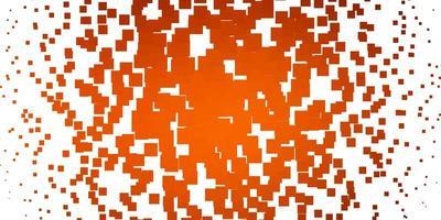 ljus orange vektor layout med linjer, rektanglar.