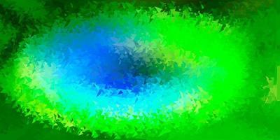 ljusblå, grön vektor triangel mosaik design.