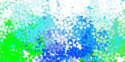 hellblauer Vektorhintergrund mit Linien, Dreiecken.