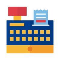 Registrieren Sie die maschinelle Zahlung online im flachen Stil