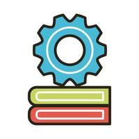 elektroniska böcker med redskap vektor