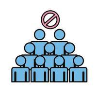 varningstecken om att undvika folkmassor
