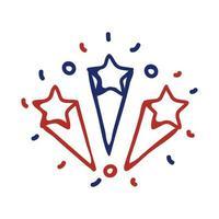Feuerwerk Splash Line Style Icon