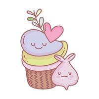 Cupcake und Knoblauch Menü Restaurant Essen süß