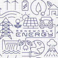 sömlösa mönster för förnybar energi vektor