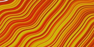 ljus orange vektor mönster med kurvor.