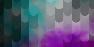 hellrosa, blaues Vektormuster mit Linien. vektor