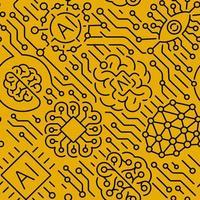 nahtloser Hintergrund der künstlichen Intelligenz vektor