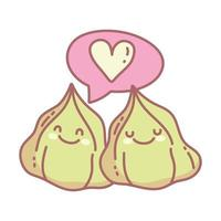 Wasabi Liebe Charaktere Menü Restaurant Cartoon Essen süß