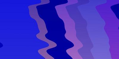 hellrosa, blaues Vektorlayout mit Kurven.