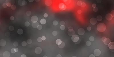 mörk röd vektor bakgrund med prickar.