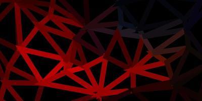 dunkelblaue, rote Vektor-Poly-Dreiecksschablone.