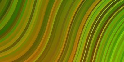 hellgrüne, gelbe Vektorschablone mit Kurven. vektor