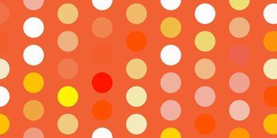 ljusorange vektor mönster med sfärer.