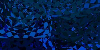 dunkelblauer Vektorhintergrund mit Dreiecken.