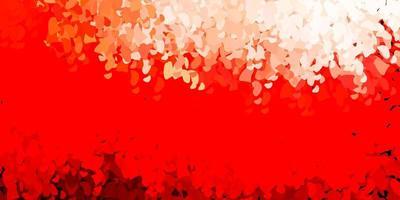 ljusröd vektorbakgrund med slumpmässiga former.
