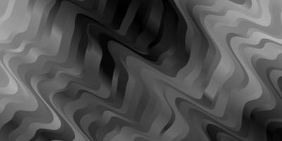 hellgraues Vektormuster mit gekrümmten Linien.