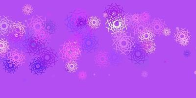 hellvioletter Vektorhintergrund mit zufälligen Formen.