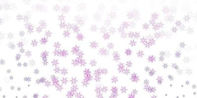 ljus lila, rosa vektor abstrakt layout med blad.