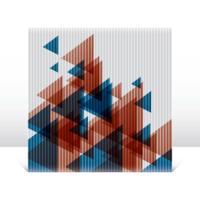 Abstrakte Dreiecke auf Leinwand vektor